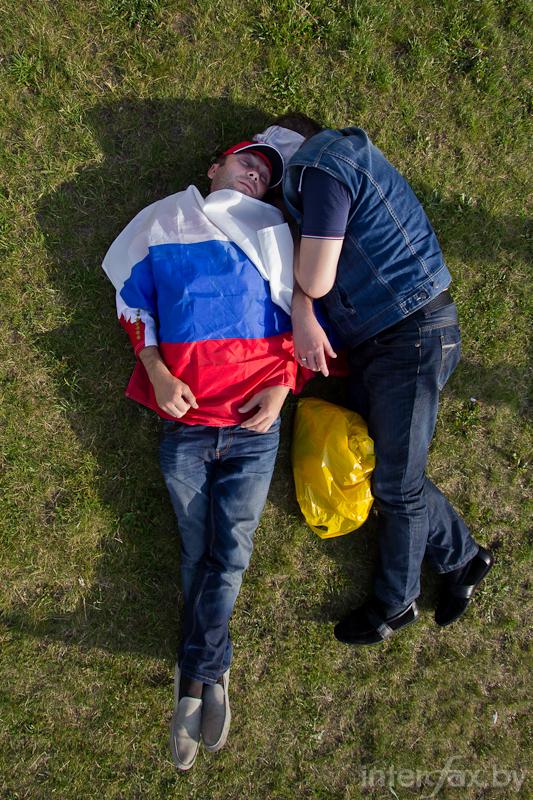 Sleeping Russian fans