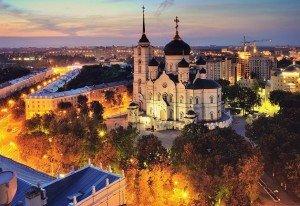 Blagoveshchensky Cathedral, signature building for Voronezh. Photo by Denis Bychkov via Wikimedia Commons