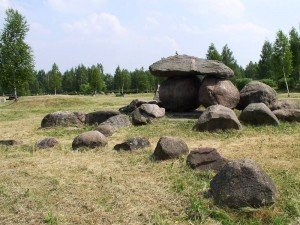 A rock garden in the shape of Belarus itself. Photo by Hanna Zelenko via Wikimedia Commons