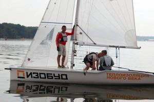 The Isobud yacht on the Minskoye Morye. Photo via FaceBook