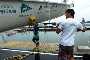 Yachting decals show that its an active sport, but also an expensive one. Photo via ej.by