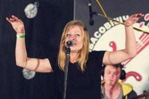 Lena Kaleynikava of Brest band Landau. Photo via the FaceBook page of the US Embassy in Minsk