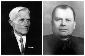 The first two rectors of the BSAA: Mikhail Grusky (left) and Joseph Priess (right). Photo via BSAA