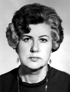 Elvira Gerasimovich, BSAA's longest-lasting rector (1968-1984). Photo via BSAA