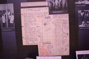 Amplified copies of Vladimir Kovolonok's flight book