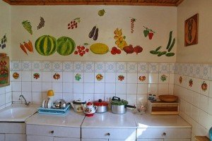 Painting made by Bykov in the kitchen