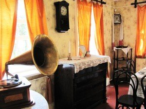 Carefully restored interior of the house