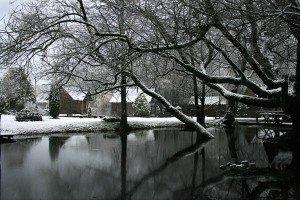 View of Dudutki in winter