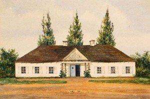 Suvorov's manor house. Drawing, 1816.