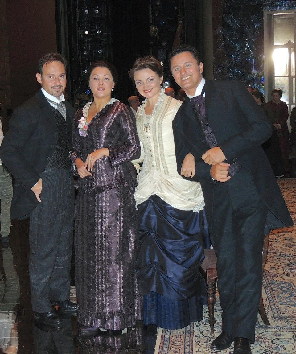 "After ""Eugene Onegin"" at New York's Metropolitan Opera House"