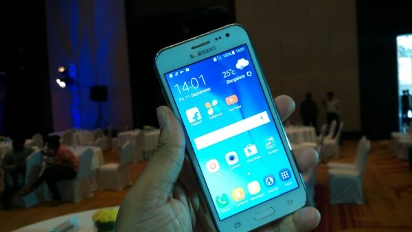 Samsung Galaxy J2, a budget smartphone with a new platform and Android OS 5.1