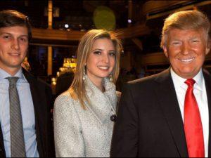 Donald Trump with Ivanka and Jared Kushner