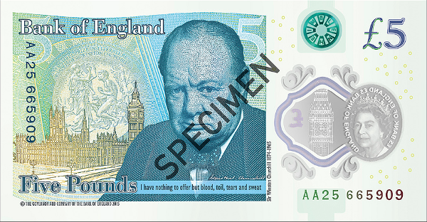 UK -money Banknote of the Year - 2016 contest