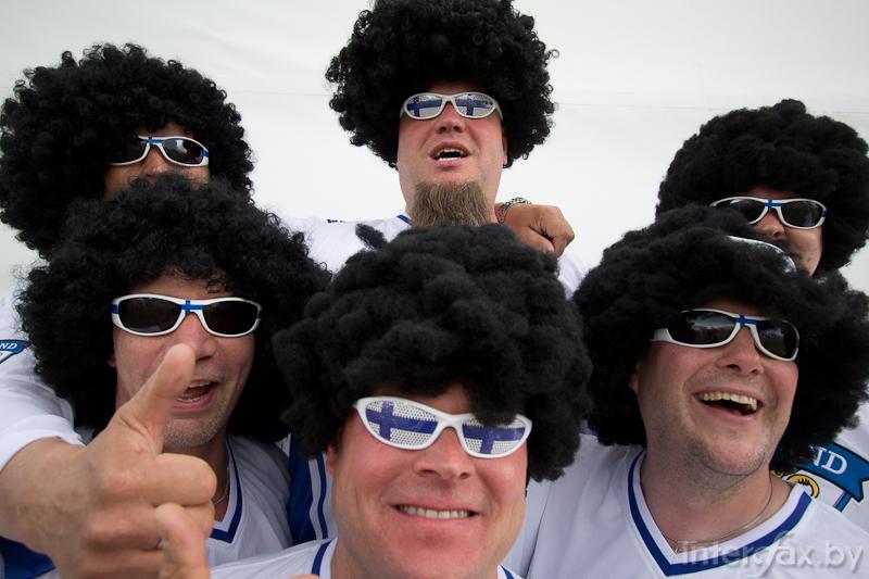 Finish fans in Minsk