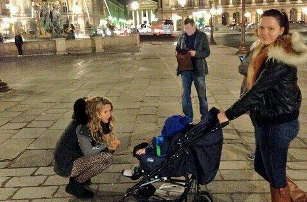 Victoria Azarenka with her nephew in Paris