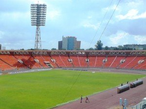 Dynama Stadium in central Minsk. Photo by K. J. Hoggard via Wikimedia Commons