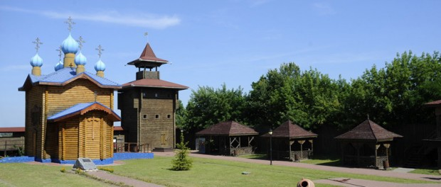 Panorama of Mozyr Castle