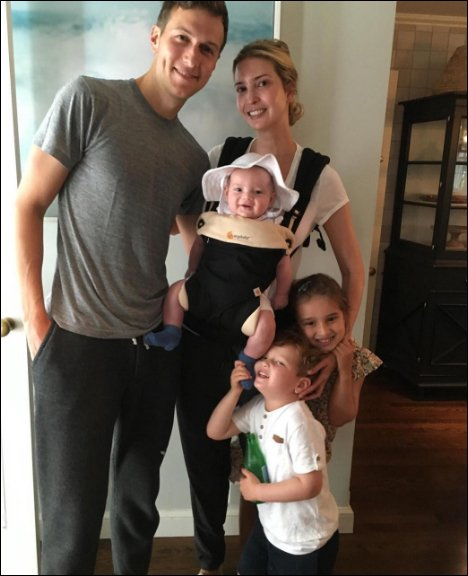 Jared and Ivanka Kushner with children