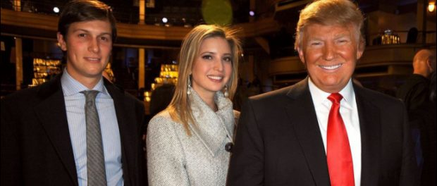 Donald Trump with Ivanka and Jared Kushner